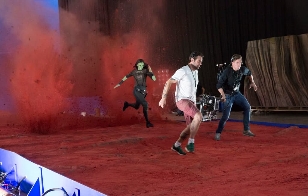 Guardians-of-the-Galaxy-2-BTS-Set-Photo-Gamora-Zoe-Saldana-Red-Planet