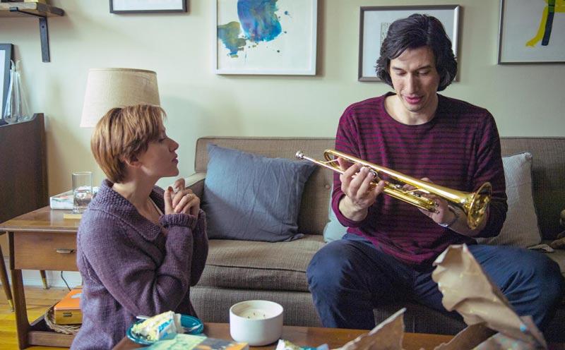 جوهانسون در کنار آدام درایور در فیلم داستان ازدواج