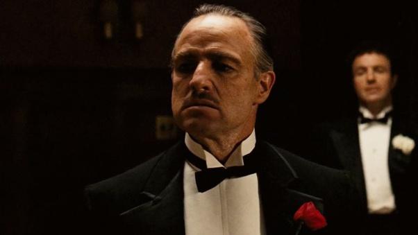 close shot / the godfather