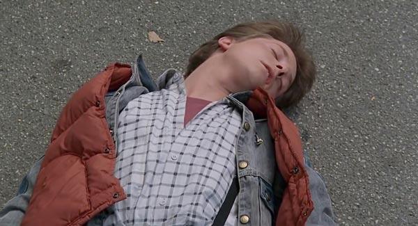 مایکل جی. فاکس در فیلم بازگشت به آینده.