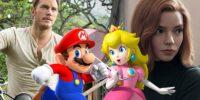 صداپیشگی کریس پرت، آنیا تیلور-جوی و جک بلک در Super Mario