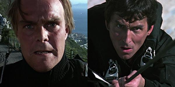 از چپ به راست: مامور 002 و مامور 004 در فیلم The Living Daylights.