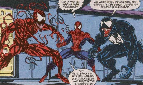 کمیک مرد عنکبوتی با حضور ونوم و کارنیج